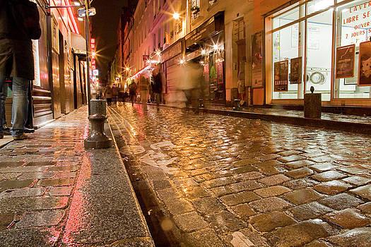 Wet Paris Street by Matthew Bamberg