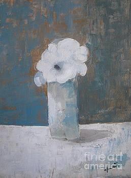 White Flowers in Vase by Vesna Antic