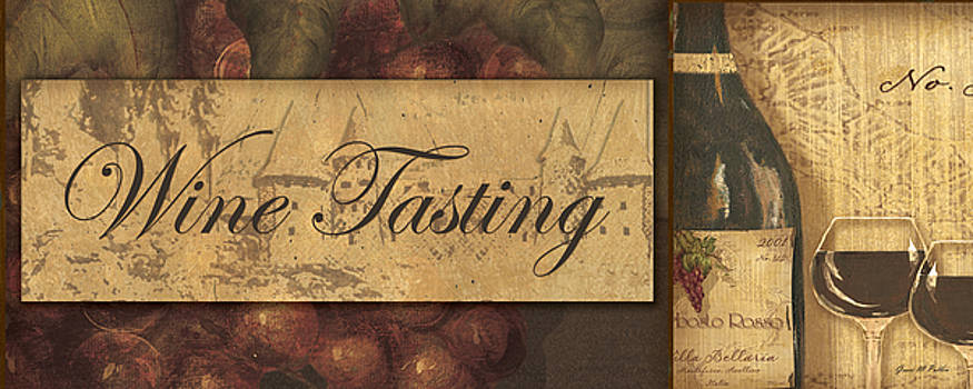 Wine Tasting Collage  by Grace Pullen