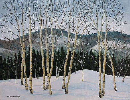Richard De Wolfe - Winter Poplars
