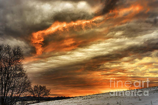 Winter Sunrise Drama by Thomas R Fletcher