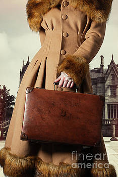 Woman With Suitcase by Amanda And Christopher Elwell