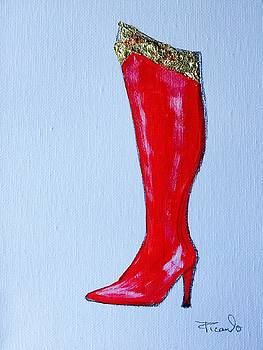 Wonder Woman's Boot by Holly Picano