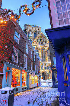 York Minster at Christmas, Petergate Street by Martin Williams