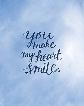 You Make My Heart Smile Pillow by Michelle Eshleman
