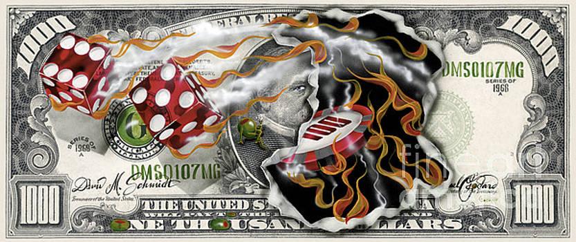 $1000 Bill Winning Big by Michael Godard