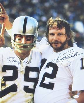 #12 Quarterback Kenny Stabler And #25 Wide Receiver Fred Biletnikoff by Donna Wilson