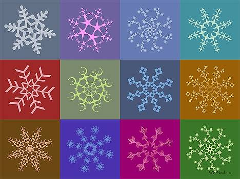 Walter Oliver Neal - 12 Snowflakes