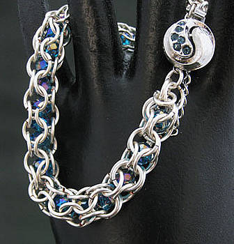 1314 Ying/Yang  Silver Teal by Dianne Brooks