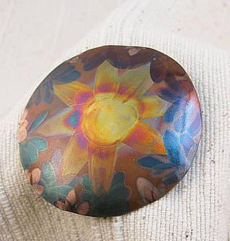 1353 Sunflower Pendant by Dianne Brooks