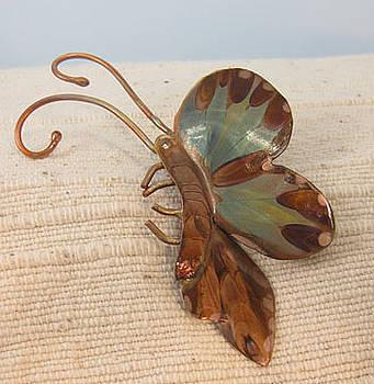 1363 Landing Butterfly Pin by Dianne Brooks