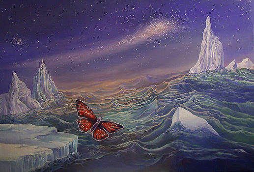 14. The butterfly  above the ocean  by Alexander Dudchin