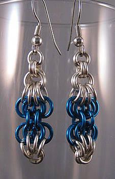 1409 Butterfly Chain Earrings by Dianne Brooks