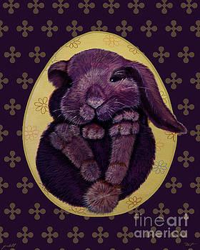 16x20 Dk Purple Furball by Dia T