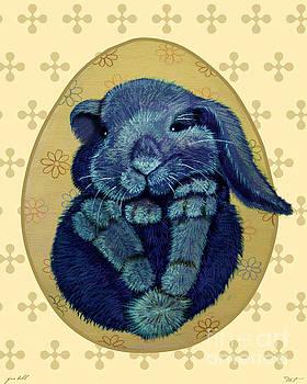 16x20 Furball Blue by Dia T