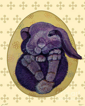 16x20 Furball Purple by Dia T