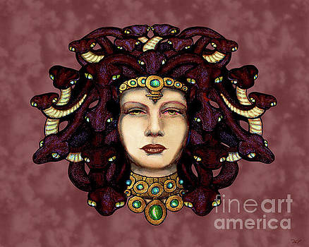 16x20 Medusa 2 Red by Dia T