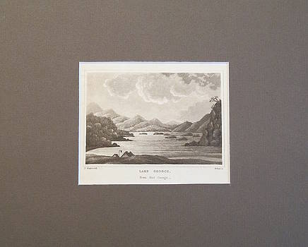 1820s Engraving of Lake George by Daniel Wadsworth