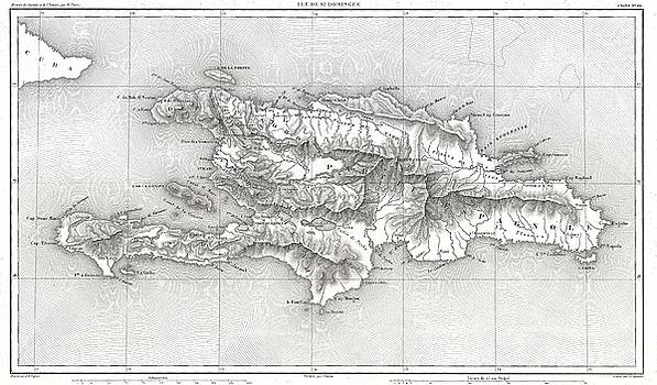 1859 Dufour Map of Hispaniola or Santo Domingo, West Indies by Paul Fearn
