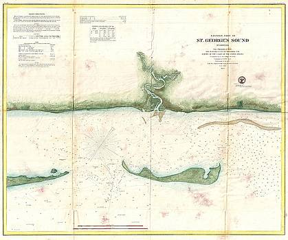 1859 U.S. Coast Survey Map of St. George Sound, Florida Panhandle by Paul Fearn