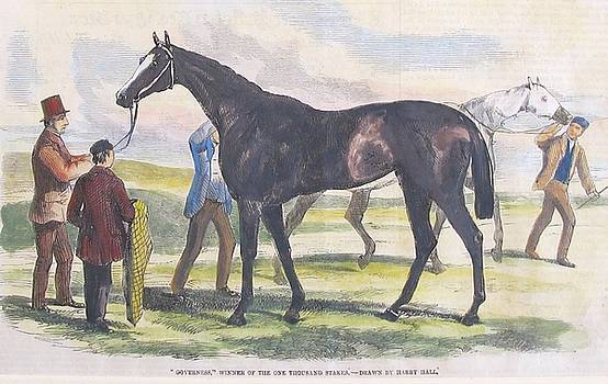 1860 British Horse Print, Matted #1 by Unknown