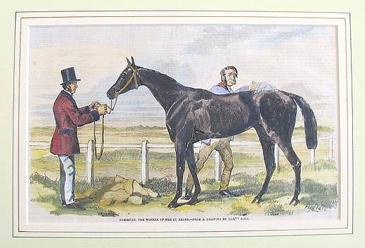 1860 British Horse Print, Matted by Unknown