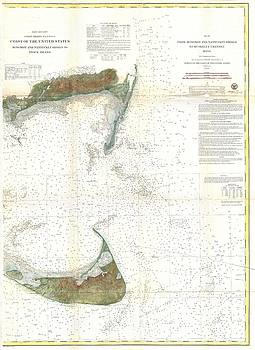 1860 U.S. Coast Survey Chart or Map of Nantucket Island, Massachusetts by Paul Fearn
