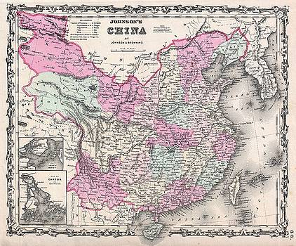 1861 Johnson Map of China by Paul Fearn