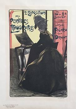 1890s Original French Art Nouveau Maitre de L'Affiche Poster, Exposition Peintres - Gottlob by Gottlob