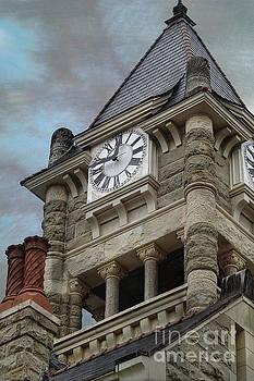 1892 Historic Clock Tower view 2 by Ella Kaye Dickey