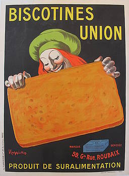 1906 Original French Food Poster, Biscotines Union by Leonetto Cappiello by Leonetto Cappiello