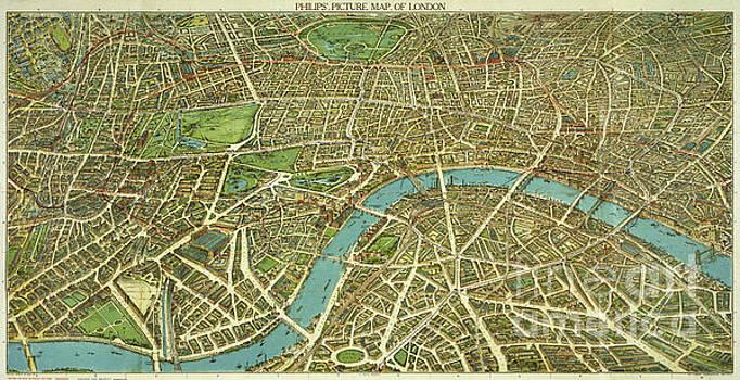 1908 London Vintage Map Poster by Carsten Reisinger
