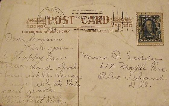 1909 New Year's Postcard by Anna Villarreal Garbis