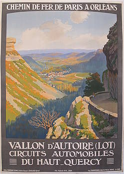 1920s Original French Railway SNCF Travel Poster, Vallon d'Autoire by Constant Duval by Constant Duval