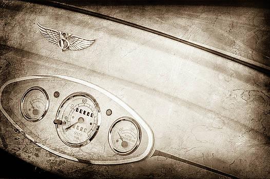 1929 Ford Model A Roadster Dashboard Emblem -0048s by Jill Reger