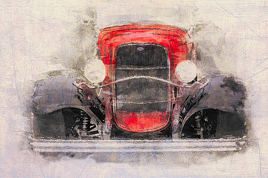 1932 Ford Roadster Red And Black by Eduardo Tavares