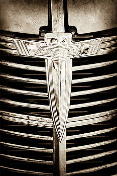1933 Chevrolet Grille Emblem -0520s by Jill Reger