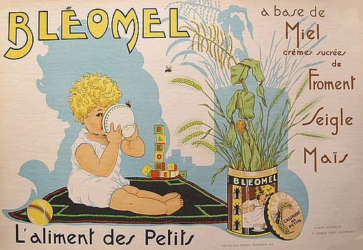 1933 Original French Bleomel Baby Food Poster by Unknown