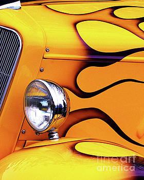 1934 Ford Custom Yellow Hot Rod by Baggieoldboy