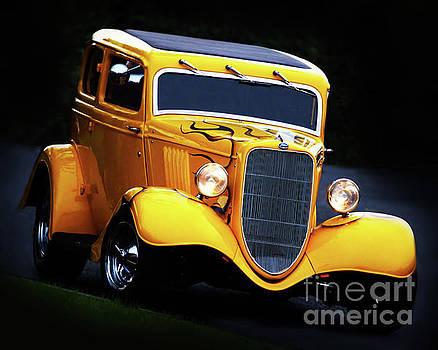 1934 Yellow Ford Hot Rod by Baggieoldboy