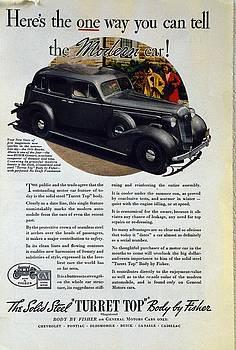 1936 Buick Century classic ad by Allen Beilschmidt