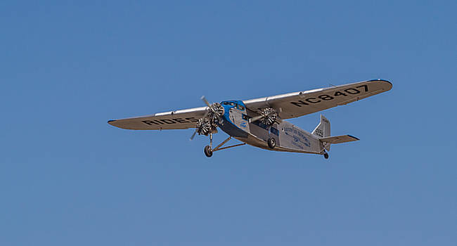 1939 Ford Tri Motor Airplane by Roger Mullenhour