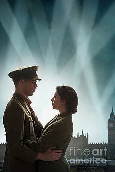 1940s Couple During The Blitz World War Two by Lee Avison