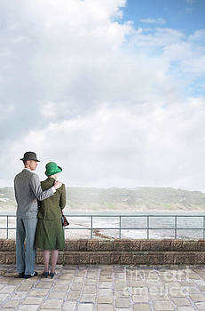 1940s Couple On The Seafront by Lee Avison
