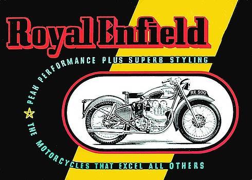 1941 Royal Enfield motorcycle ad by Allen Beilschmidt