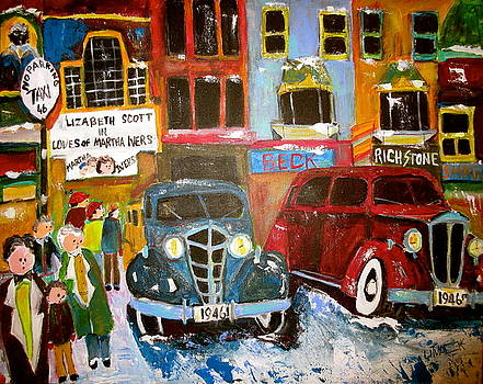 1946 Montreal Taxi Stand by Michael Litvack