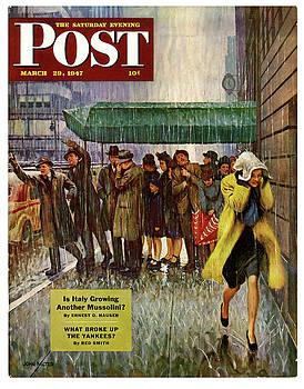 1947 Saturday Evening Post magazine cover by Allen Beilschmidt