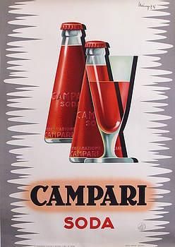 1950s Art Deco Italian Campari Soda Drink Advertisement - Giovanni Mingozzi by Giovanni Mingozzi