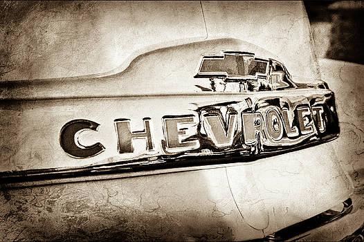 1952 Chevrolet Hood Emblem -0245s by Jill Reger