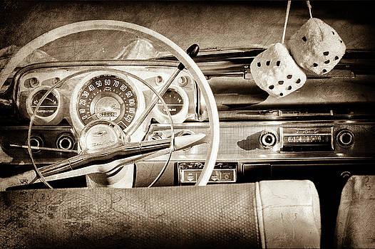 1956 Chevrolet Belair Steering Wheel -0492s by Jill Reger